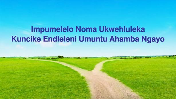 Impumelelo Noma Ukwehluleka Kuncike Endleleni Umuntu Ayihambayo